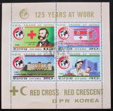 Poštovní známky KLDR 1988 Mezinárodní červený kříž Mi# 2897-2900