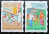 Poštovní známky OSN Vídeň 1987 Očkování dětí Mi# 77-78