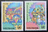 Poštovní známky OSN Vídeň 1989 Světová banka Mi# 89-90