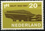 Poštovní známka Nizozemí 1967 VŠ technická Mi# 871