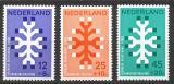 Poštovní známky Nizozemí 1969 Boj proti rakovině Mi# 923-25