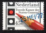 Poštovní známka Nizozemí 1977 Parlamentní volby, přetisk Mi# 1096