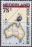 Poštovní známka Nizozemí 1988 Mapa Austrálie Mi# 1350