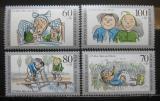 Poštovní známky Německo 1990 Max a Moritz Mi# 1455-58