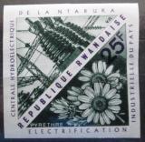 Poštovní známka Poštovní známka Rwanda 1967 Vodní elektrárna neperf. Mi# 213 B
