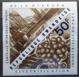 Poštovní známka Poštovní známka Rwanda 1967 Vodní elektrárna neperf. Mi# 214 B
