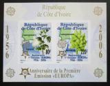 Poštovní známky Pobřeží Slonoviny 2005 Evropa CEPT, 50. výročí, neperf. Mi# Block 170 B Kat 16€