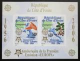 Poštovní známky Pobřeží Slonoviny 2005 Evropa CEPT, 50. výročí, neperf. Mi# Block 171 B Kat 16€