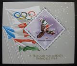 Poštovní známka Maďarsko 1967 ZOH Grenoble Mi# Block 62