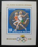 Poštovní známka Maďarsko 1968 LOH Mexiko Mi# Block 65