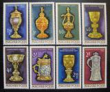 Poštovní známky Maďarsko 1970 Zlaté umělecké předměty Mi# 2625-32
