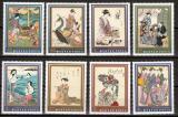 Poštovní známky Maďarsko 1971 Japonské umění Mi# 2673-80