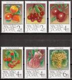 Poštovní známky Maďarsko 1986 Ovoce Mi# 3848-53
