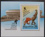 Poštovní známka Maďarsko 1988 MS v krasobruslení Mi# Block 195