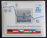 Poštovní známka Jugoslávie 1985 Dunajská regata Mi# Block 26