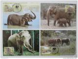 Maxikarty Srí Lanka 1986 Sloni, WWF 039 Mi# 753-56 Kat 70€