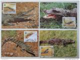 Maxikarty Kongo 1987 Krokodýli, WWF 045 Mi# 1063-66