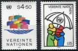 Poštovní známky OSN Vídeň 1985 Symboly Mi# 49-50