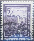Poštovní známka Sársko 1950 Odvoz strusky Mi# 276