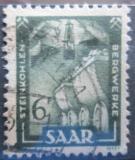 Poštovní známka Sársko 1951 Kamenouhelný průmysl Mi# 277