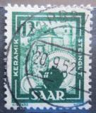 Poštovní známka Sársko 1949 Keramický průmysl Mi# 280