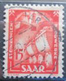 Poštovní známka Sársko 1950 Kamenouhelný průmysl Mi# 281