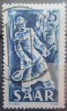 Poštovní známka Sársko 1949 Ocelářský průmysl Mi# 284
