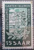 Poštovní známka Sársko 1951 Výstava květin Mi# 307