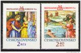 Poštovní známky Československo 1974 Gobelíny Mi# 2214-15 Po# 2102-03