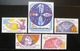 Poštovní známky Československo 1975 Výzkum vesmíru Mi# 2278-82 Po# 2160-64