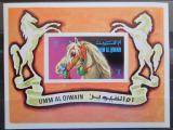 Poštovní známky Umm al-Kuvajn 1972 Koně Mi# Block 36