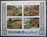 Poštovní známky Rás al-Chajma 1969 Umění neperf. Mi# Block 70 B Kat 17€