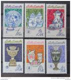 Poštovní známky Československo 1977 Porcelán Mi# 2381-86 Po# 2257-62