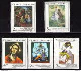 Poštovní známky Československo 1991 Umění Mi# 3102-06 Po# 2994-97