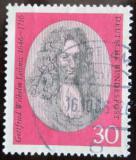 Poštovní známka Německo 1966 G. W. Leibniz, filozof Mi# 518