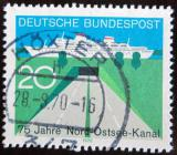 Poštovní známka Německo 1970 Severobaltský kanál Mi# 628