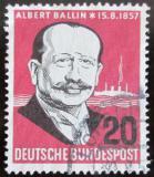 Poštovní známka Německo 1957 Albert Ballin Mi# 266