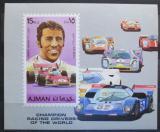 Poštovní známka Adžmán 1971 Automobilové závody Mi# Block 309 Kat 8.50€