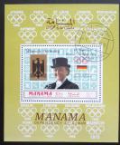 Poštovní známka Manáma 1969 LOH Mexiko, Lieselott Linsenhoff Mi# 209 A Block