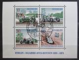 Poštovní známky Západní Berlín 1971 Závodní auta Mi# Block 3