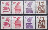 Poštovní známky Německo 1974 Prevence nehod Mi# 695-99 C-D Kat 18€