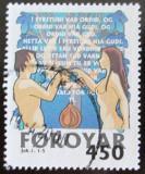 Poštovní známka Faerské ostrovy 1999 Adam a Eva Mi# 366