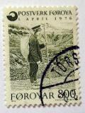 Poštovní známka Faerské ostrovy 1976 Listonoš Mi# 23