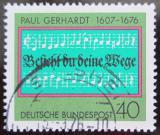 Poštovní známka Německo 1976 Luteránská hymna Mi# 893
