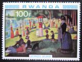 Poštovní známka Rwanda 1980 Umění, Seurat Mi# 1067