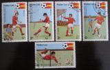 Poštovní známky Laos 1981 MS ve fotbale Mi# 505-09