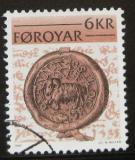 Poštovní známka Faerské ostrovy 1981 Stará pečeť Mi# 68