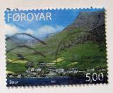 Poštovní známka Faerské ostrovy 2003 Městečko Bour Mi# 460