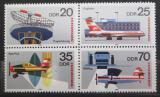 Poštovní známky DDR 1980 Interflug, 25. výročí Mi# 2516-19
