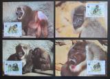 Maxikarty Kamerun 1988 Pavián, WWF 067 Mi# 1155-58